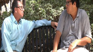 Joey Juarez, right, talks with his father Jose on the campus of UCLA. Joey has autism and recently completed a 16-week intervention course designed to help him with social interactions. The Program for the Education and Enrichment of Relational Skills (PEERS) is offered through UCLA`s Semel Institute for Neuroscience and Human Behavior, and is the only such intervention clinically proven to work. Part of the program`s success may be due to the involvement of parents, who are also taught how to coach their young adult children with autism to ensure continued improvement. To learn more about the intervention, click here: bit.ly/1IVV0PL